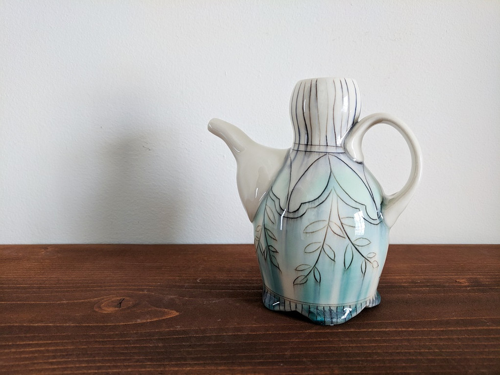 Ewer with Petal and Vine Deco