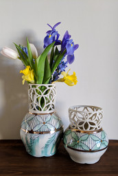 Two Cut Out Vases