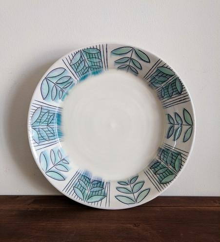 Platter with Fern Pattern