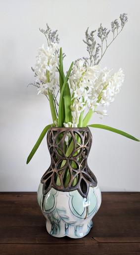 Bronze Pierced Vase