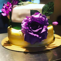 LSU themed wedding cake #sugrcoatedcakes