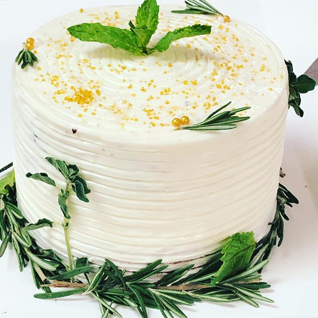 A chocolate herb cake for a charitable c