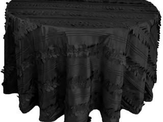 mantel negro petalo tafeta