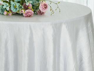 renta mantel taffeta blanco