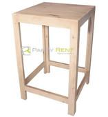 periquera de madera cuadrada