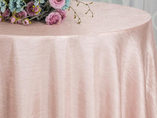 mantel taffeta rosa palido
