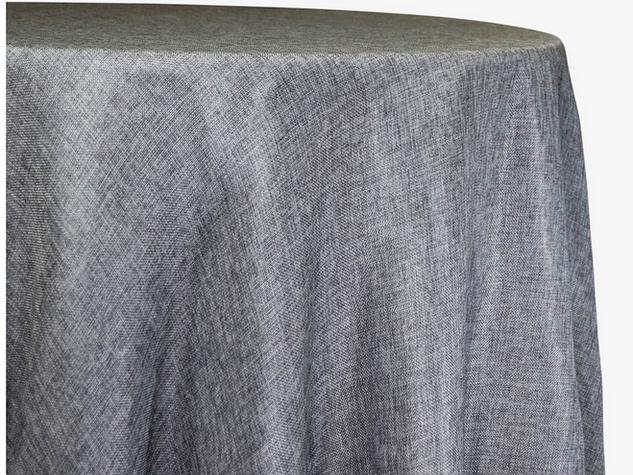 mantel lino gris cuadrado de 2.15 x 2.15