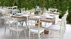 renta de sillas y mesas vintage