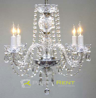 candelabro de cristal
