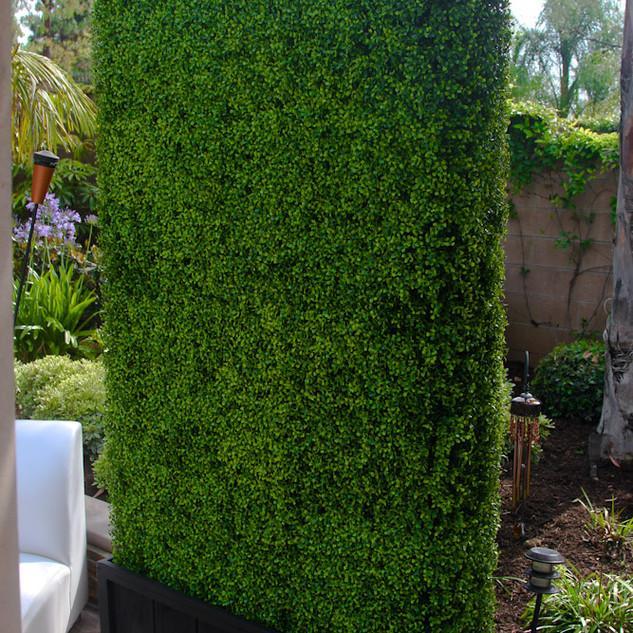 mampara verde artificial