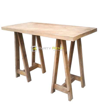 periquera caballete de madera rectangular