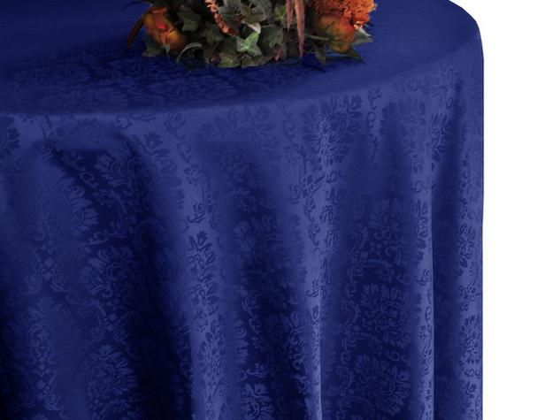 mantel damask azul marino