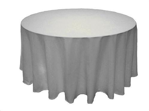 Mesa redonda con mantel