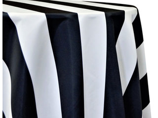 mantel blanco negro stripe