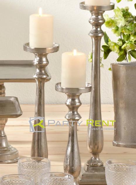 candiles de mesa metalicos