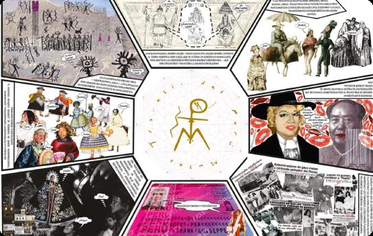 Collage del museo travesti