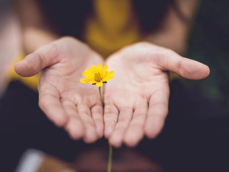 Massaging the hands