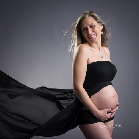 Photo de grossesse en studio