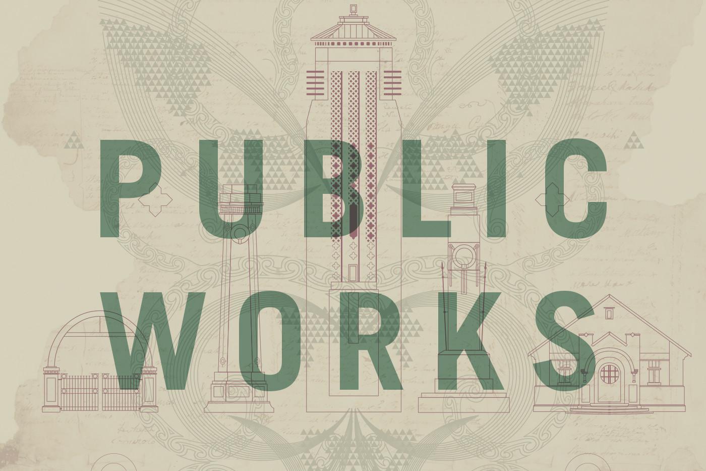 Public Works - poster image by Tim Hansen