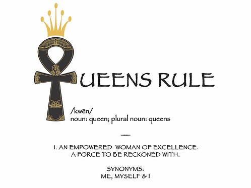 SELECT TO BUY NOW! Queens Rule T-shirt