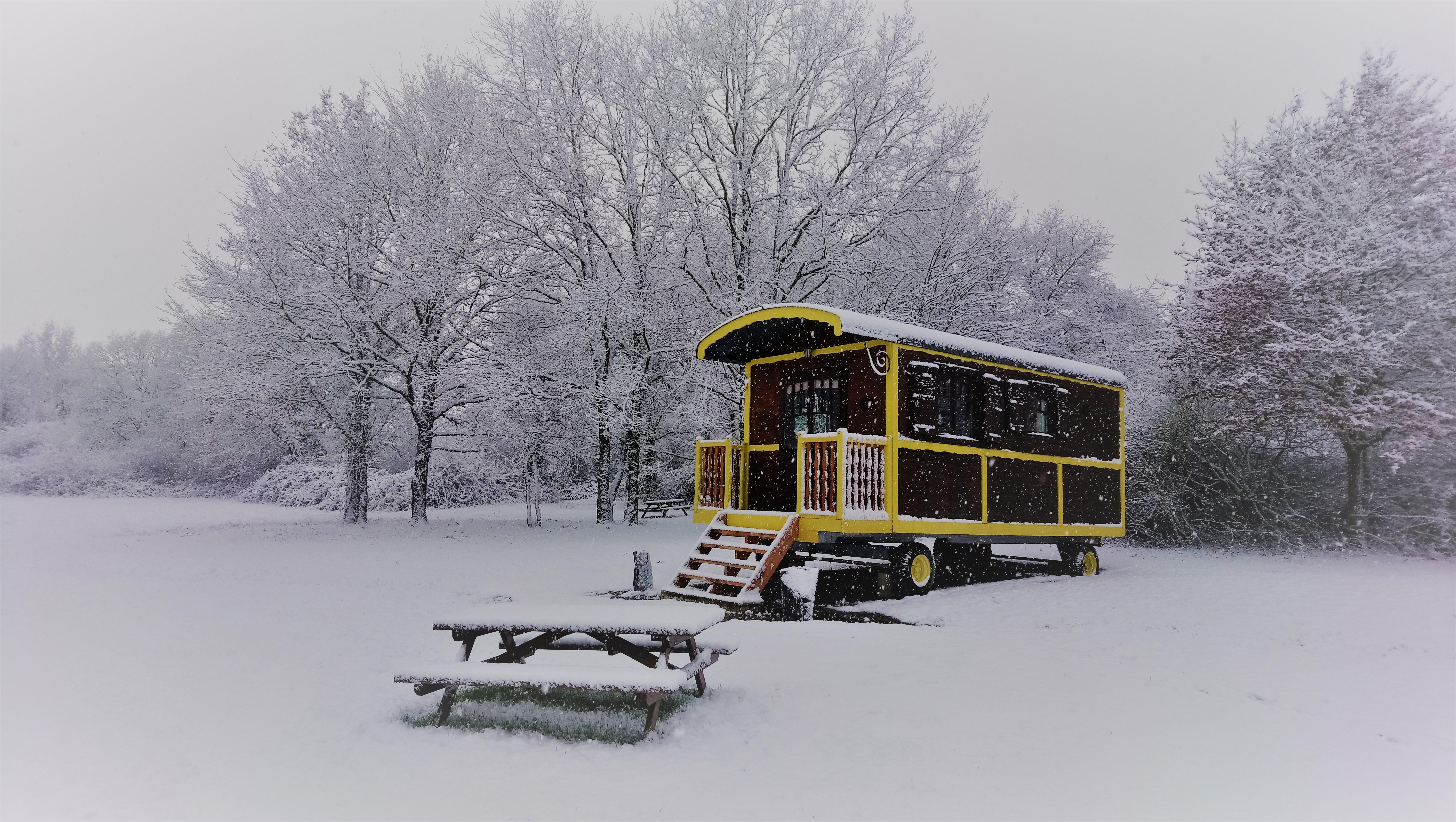 Roulotte 4 saisons chauffée Touraine