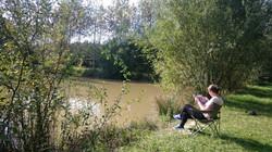 The Domaine de La Grangée has a pond
