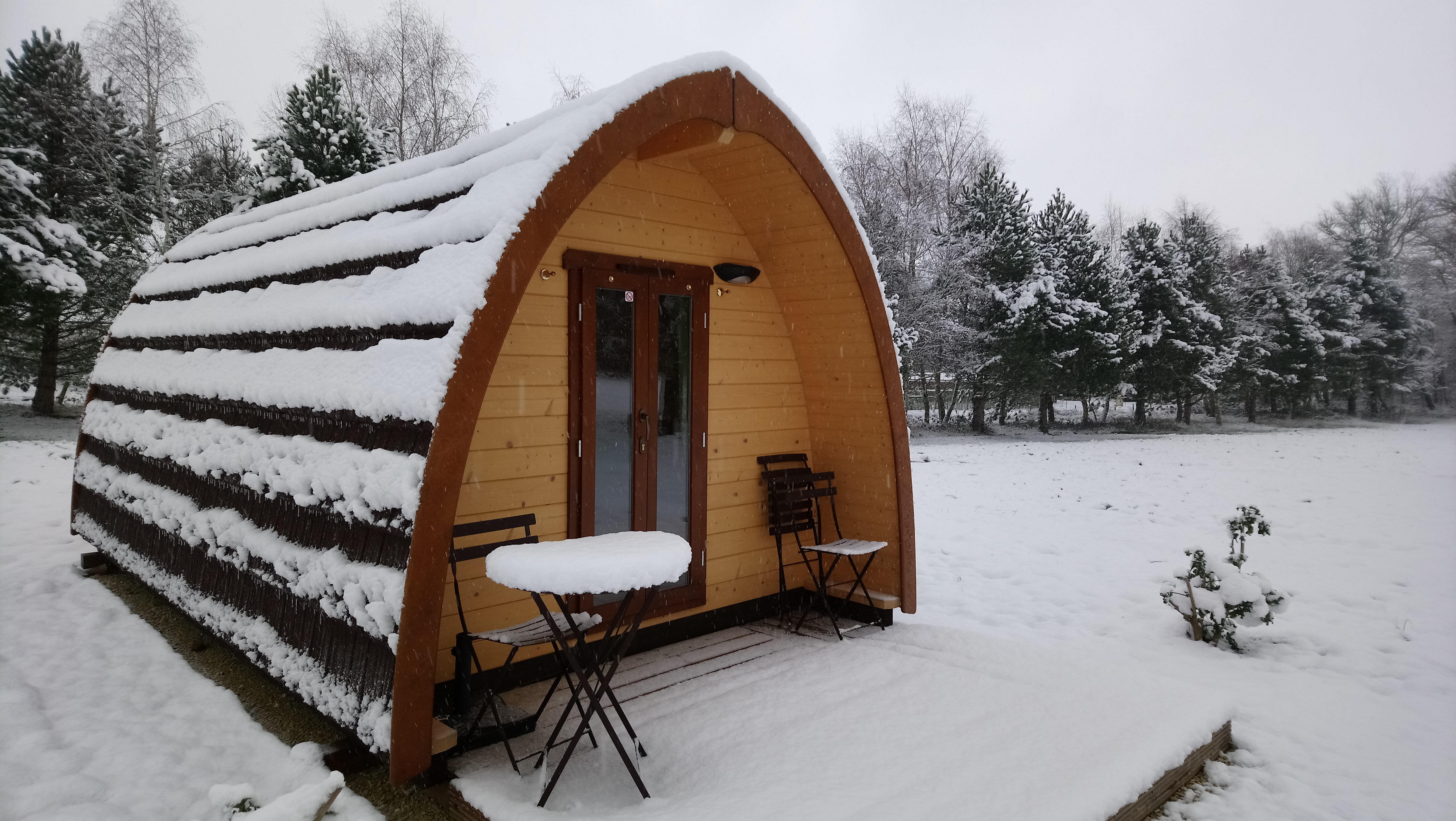 Cabane forestière 4 saisons chauffée