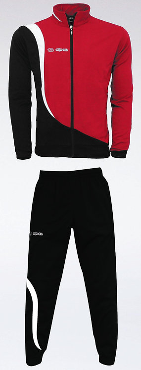 ELEGANCE Training Tracksuit Red/White/Black