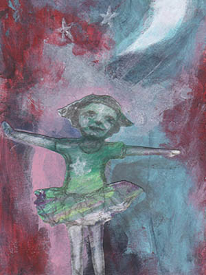 Girl Dancing in the Moon