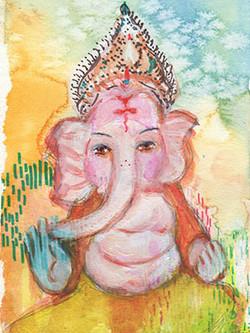 blessing Ganesh