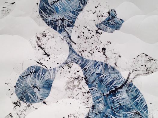 Blue Ink Collage