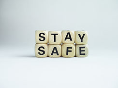 "Stay safe concept. Word ""Stay Safe"" isol"