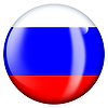 PNG image of the flag of Russia in a glossy circle