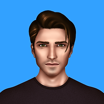 The PNG image of Chris, one of the characters of Time Travel Love Story Game.