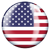 PNG image of the flag of the USA in a glossy circle