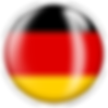 PNG image of the flag of Germany in a glossy circle