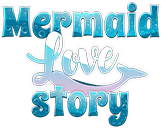 The logo of Mermaid Love Story Game in decorative letters