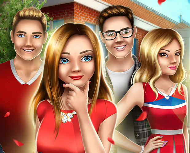 Anna, Steven, Michael and the Main Character in Teen Love Story