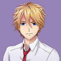 An illustration of an anime character with blond hair, named Hiroki, from Shadowtime.
