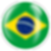 PNG image of the flag of Brazil in a glossy circle