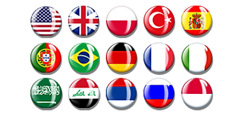 The flags of the languages in which you can play Amnesia Love Story Game