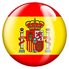PNG image of the flag of Spain in a glossy circle