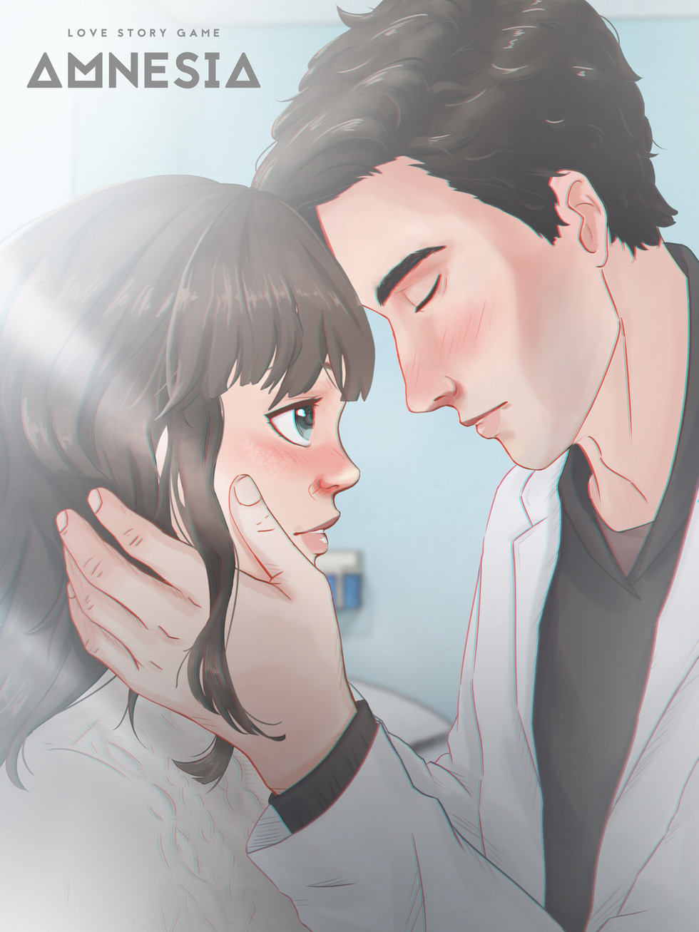 Doctor Touching Her Face Gently