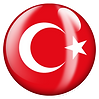 PNG image of the flag of Turkey in a glossy circle