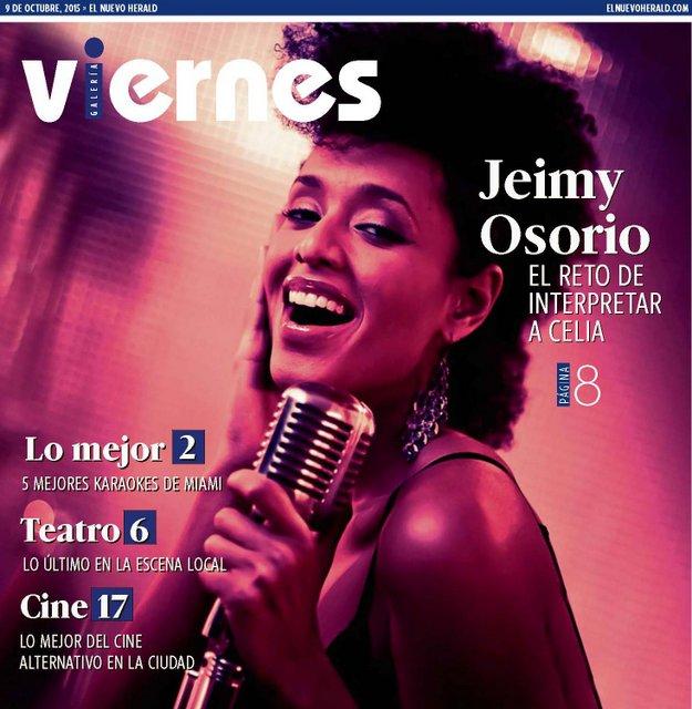 El Nuevo Herald Miami - VIERNES PORTADA- Jeimy Osorio