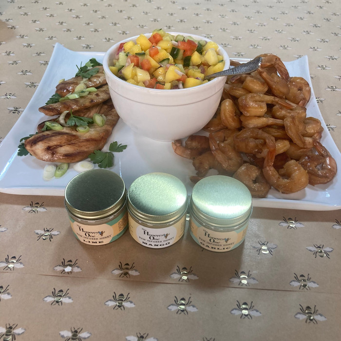 Chicken and Shrimp Entree with Mango Salsa