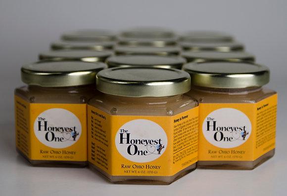 12 Jars - 6 oz Raw Ohio Honey