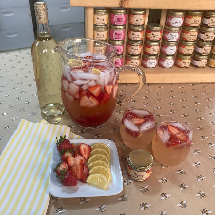White Strawberry Summer Sangria (Kims Signature Cocktail)