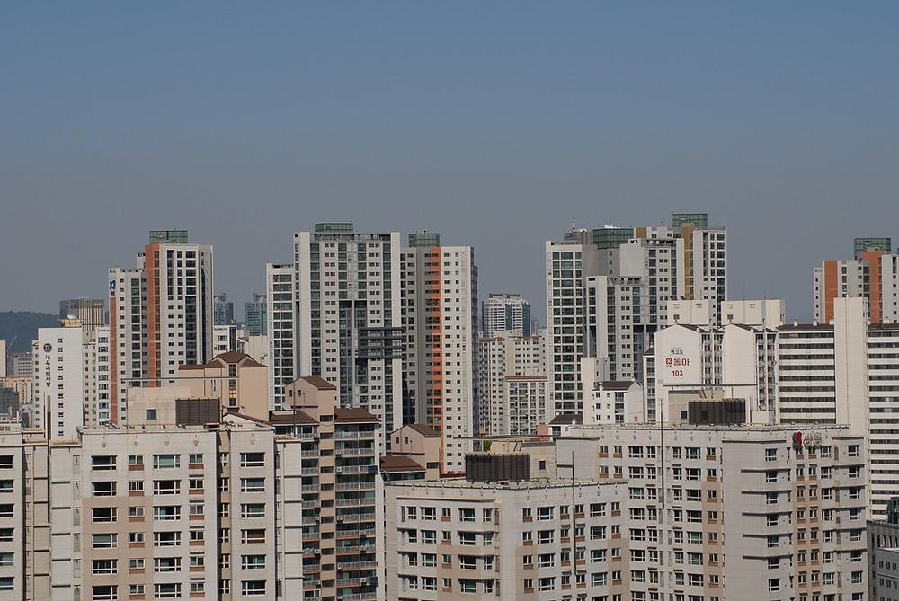 Seouls typische Apartmentwohnanlagen