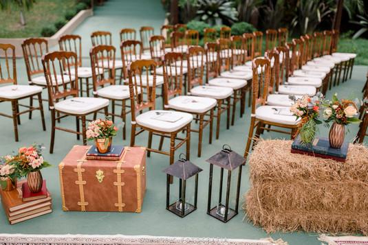 Cerimônia de casamento com Dior Imbuia